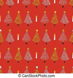 Festive Christmas Trees Candle