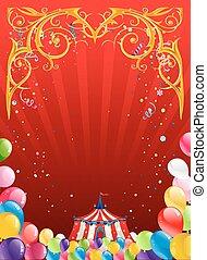Festive circus background