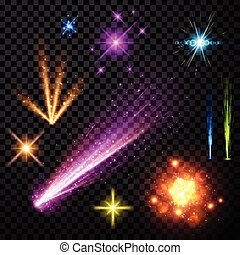 Festive color firework set. - Festive color firework set...