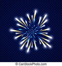 Festive colorfu firework design. Holiday background. Vector...