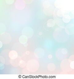 Festive colorful background of blue colors with bokeh defocused lights.