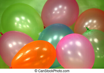 Festive Colorful Balloon Background