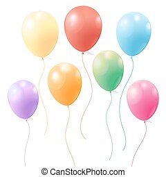 festive colorful balloons - bright festive colorful balloons...