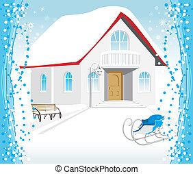 Festive composition. Christmas card