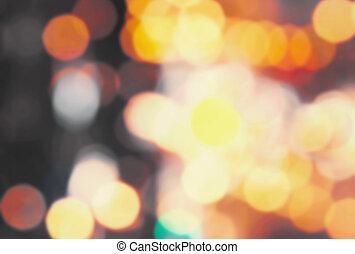 Defocused Bokeh twinkling lights background. Abstract...
