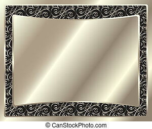 Festive Delicate metal frame for your design