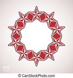 Festive design element with stars