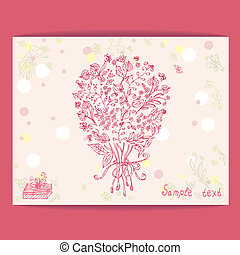 Festive design with flowers