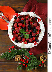 festive dessert Christmas cake