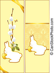 Festive Easter cards with bunny