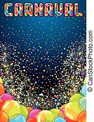 Festive Festive Background. Carnival Vector Design