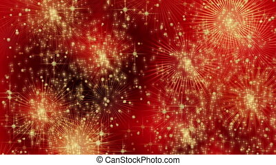 Festive fiery abstract background with vivid  light, dynamic motion with burst of stars
