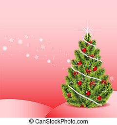 Festive fir-tree