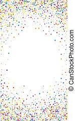 Festive flawless confetti. Celebration stars. Rainbow ...
