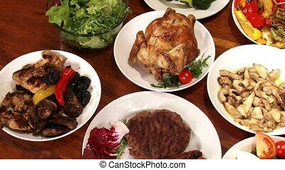 Festive foods, served on table