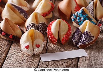 Festive Fortune Cookies decorated with candy sprinkles...