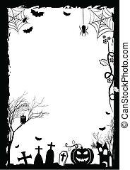Festive frame on theme Halloween