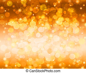 Festive gold abstract magic background.