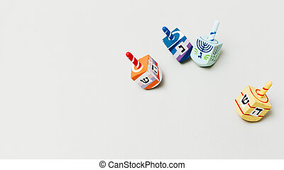 festive hanukkah dreidel with copy space. High quality and resolution beautiful photo concept
