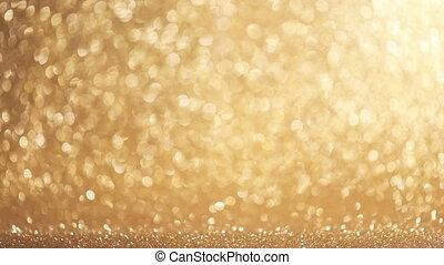 Festive holiday background - Golden festive holiday glitter...