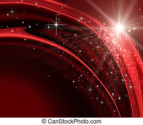 Festive holiday background with sparkles and stars