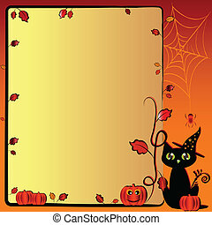 Festive illustration on theme of Halloween with field for...