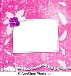 Festive invitation or congratulations for a wedding,...