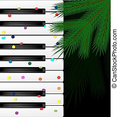 festive keys and tree