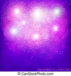 Festive lilac background. Vector.