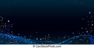 Festive Lucky background with glitter and stars