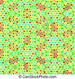 festive mosaic pattern