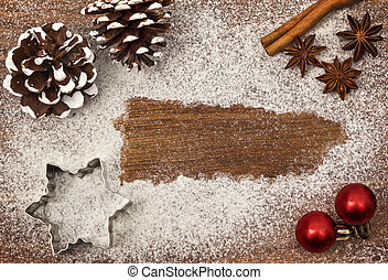 Festive motif of flour in the shape of Puerto Rico (series)