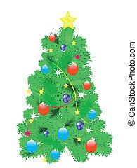 Festive natty fir tree
