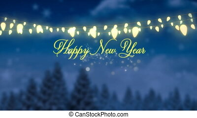 Festive New Year - Animation of the words Happy New Year in ...
