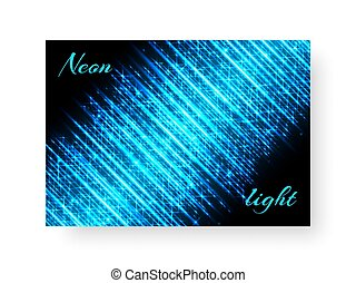 Festive notebook with neon light - Festive background of...