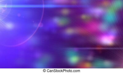 Festive Party Lights Particle Loop with Lens Flare -...
