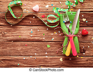 Festive party place setting