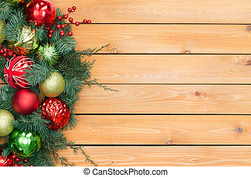 Festive pine and berry christmas garland