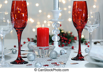 festive place setting