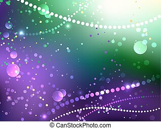 Festive purple background - Bright purple and green...