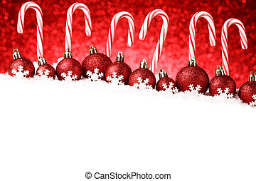 Festive Red and White Peppermint Candy Canes