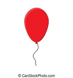 Festive red balloon. Vector illustration