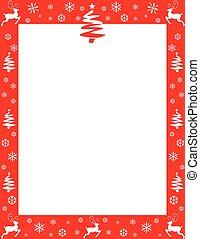 Festive Red Christmas Border