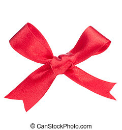 Festive red gift bow