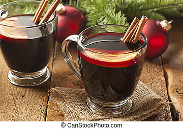 Festive Red Hot Spiced Wine For Christmas