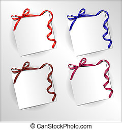 Festive ribbon with bow