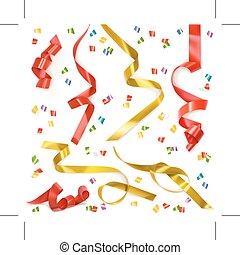 Festive ribbons elements