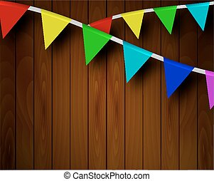 festive ribbons on a background of