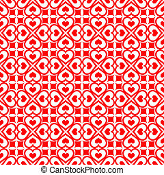 Festive seamless of red hearts