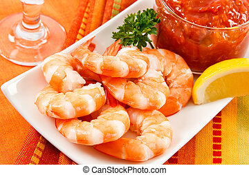 Festive Shrimp Cocktail - Fresh shrimp are a delicious...